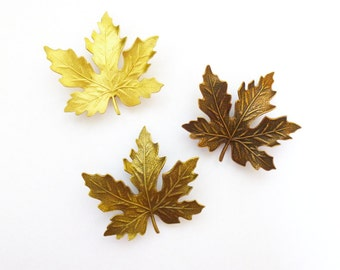 Maple Leaf Barrettes Bridal Hair Clips Autumn Bridesmaids Fall Bride Rustic Woodland Wedding Accessories Garden Forest Womens Gift For Her