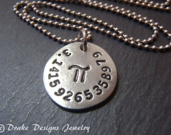 math jewelry pi necklace geekery nerdy jewelry math gifts