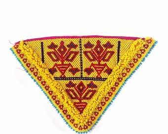 Vintage Kuchi Dress Patch / Kuchi Beaded Patch / beaded-patch-117