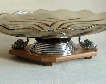 art deco glass   bowl