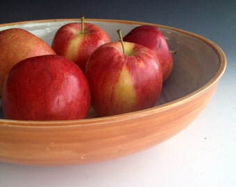 Ready to ship Serving Bowl, Pasta Serving Bowl, Salad Bowl, Fruit Bowl, Stoneware pottery by Leslie Freeman