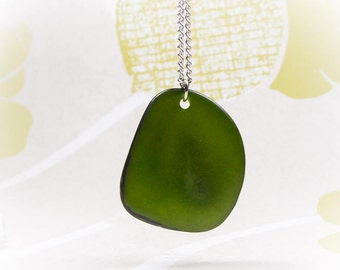 Lightweight Jewellery, Eco-Friendly Jewellery, Green Necklace, Organic Jewellery, Vegetable Ivory, Healing Necklace, Tagua Nut Necklace