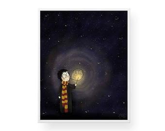 Harry Potter Lumos Wall Art - Print