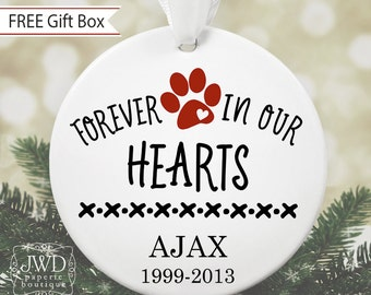 Pet Memorial Ornament Family Pet Loss Gift Personalized Pet Remembrance Ornament Pet Keepsake Christmas Ornament Custom Pet Gift #OR16MG
