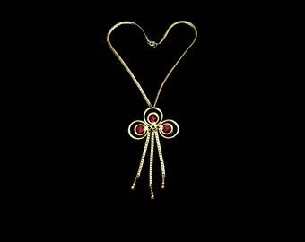 Pink Rhinestone & Gold Herringbone Chain Choker, Gold Chain Fringe, Pink Necklace, Pink Choker, Maid of Honor Bridesmaid, Gift For Her