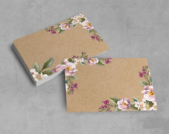 10 pieces of Table cards kraft paper-look flat