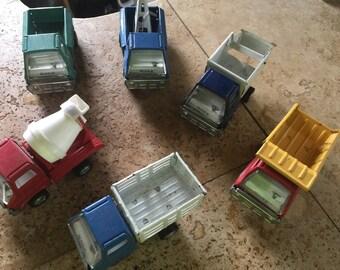 Vintage marx toys truck set