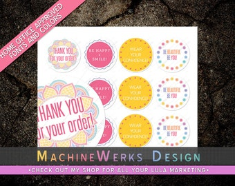 LuLa LLR Thank You / Motivational Stickers • LLR Sticker Set • Home Office Approved Fonts and Colors • Marketing Materials • MachineWerks