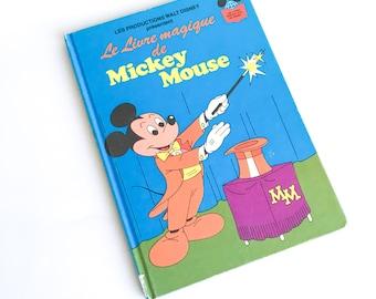 Disney children's book, Le livre magique de Mickey Mouse, Story book, Children's book, Vintage book, Disney classic, Book