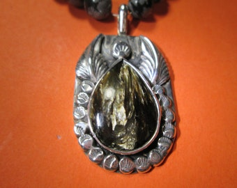 Angel pendant... Seraphinite in sterling silver... by TonyL