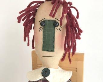 Primitive Rag Doll with Ornie