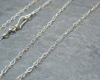 Sterling silver chain ~ Silver necklace ~ Sterling silver trace chain ~ Jewellery making supplies ~  Handmade clasp ~ Fine silver chain ~