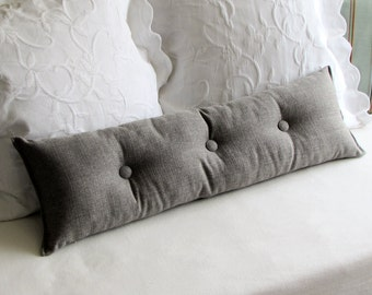 MEDINA GRAY 9x25 Bolster/lumbar pillow available in many of our fabrics