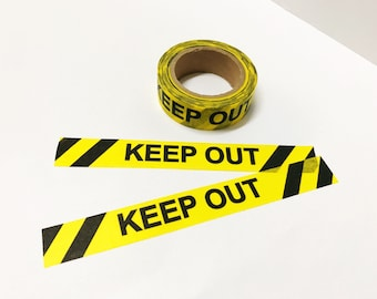 Keep Out Washi Tape Yellow and Black 15mm x 10M