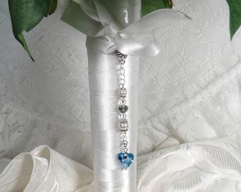 Something Blue Bridal Bouquet Charm Something Blue Bouquet Charm Blue Bouquet Accessory Wedding Keepsake Something Blue For Bride