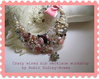 Great DIY class Wired bib necklace beaded necklace
