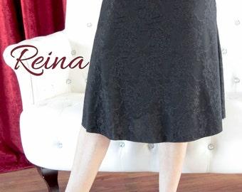 Black lace tango skirt