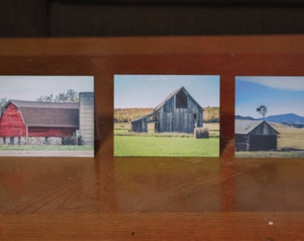 Blank Note Cards - Original Barn Photography - Pack of 12 (2 each of 6 different photos)