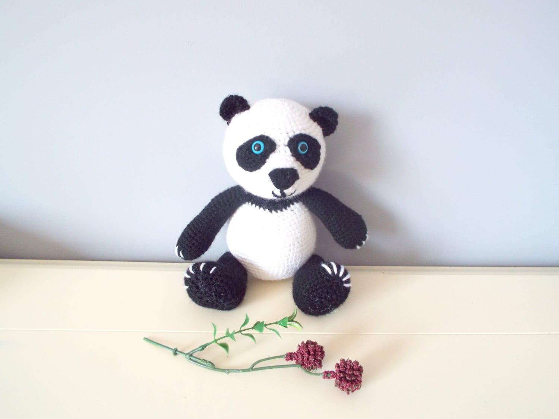 Handarbeit häkeln Panda Bär Puppe Kinder Amigurumi