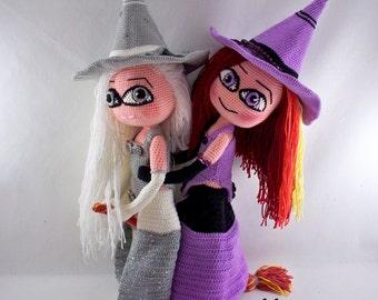CROCHET PATTERN : Crochet Witch - Sweet Witch - Cute witch pattern - Amigurumi Doll Pattern - Amigurumi Witch Pattern - Amigurumi - Crochet