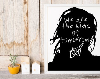 """ASAP Rocky """"We Are The Kids of Tomorrow"""" Art Print"""