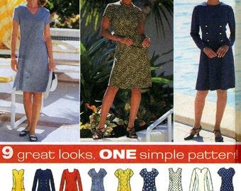 Simplicity Sewing Pattern 7243 Misses'/Miss Petite Dress  Size:  R  14-16-18  Uncut