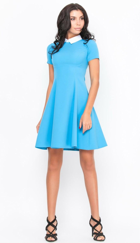 Blue dress Dress short sleeve Spring dress Summer Dress Women