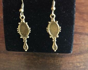 Cute mirror shape earrings
