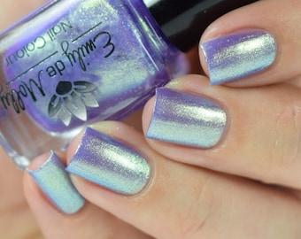 "Nail polish - ""Savvy Trinket""  purple to green gold duochrome foil"