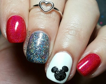 Mouse Head Nail Decal