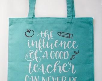 Good Teacher Canvas Tote