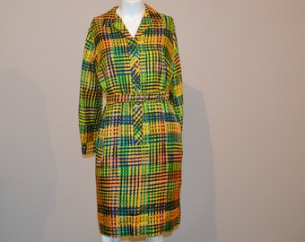 Vintage Shirt Dress Mod  Serbin 60's to 70's