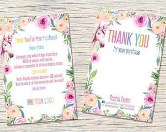 Thank You Care Cards Instructions- Post Card | 4 x 6 JPEG and PDF | Instant Download - Wash card, Care instructions