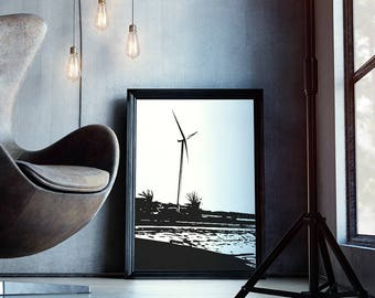 Windmill Wall Art - Windmill Wall Decor - Modern Farmhouse - Living Room Hangings - Windmill Home Decor - Wall Hanging DIY - Windmill Decor