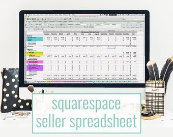 SquareSpace Seller Spreadsheet - bookkeeping template for SquareSpace sites - accounting spreadsheet