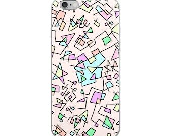 zig-zaggy squiggles iPhone Case