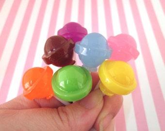 """7 Colorful """"Dum Dums"""" Lollypops Faux Candy, #207"""
