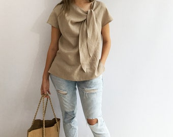 Light Linen Top, Elegant Womens Top, Linen blouse, Linen Shirt Women, Plus size top, Made To Measure Top, Plus size blouse, linen women