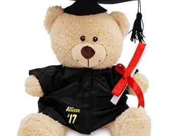 Personalized Graduation Teddy Bear, grad gift, graduate gift, custom, plush, class of gift, stuffed bear, grad bear, graduation -gfy831703