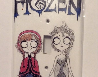 Tim burton froze single switch plate cover