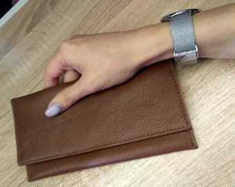 Womens wallet | Clutch | Leather wallet | Leather purse | Womens gift | Gift for her | Birthday gift | Minimalist wallet | Long wallet