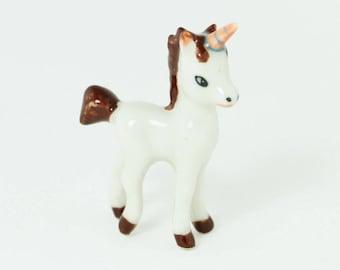 Miniature Unicorn - Tiny Unicorn - Ceramic Porcelain Figurine - Ceramic Hand Painted -  So Cute