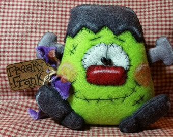 E-Pattern - Freaky Frank Frankenstein Pattern #184 - Primitive Doll E-Pattern