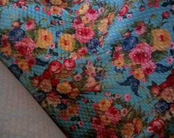 fabric cushioning multicolor flowers by the half yard sale