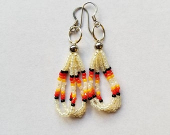 Cream Short Dangle Earrings