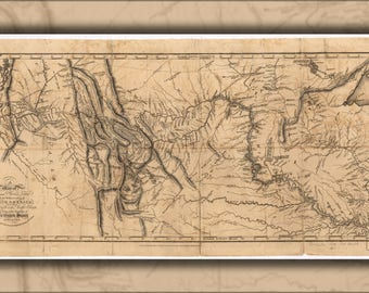 Poster, Many Sizes Available; Map Of Lewis And Clark'S Expedition Pub 1814