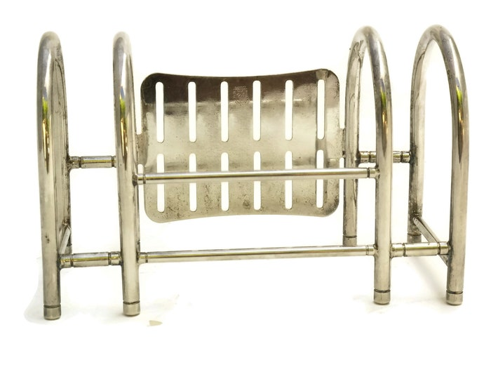 Vintage Silver Plated Cutlery Holder. Knife and Fork Rack. Flatware Organizer. Silverplated Buffet Caddy. Cutlery Stand. Table Decor.