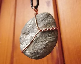 Pyrite,wiccan jewelry,occult,witchy,pagan clothing,norse,aesthetic clothing,celtic necklace,raw stone necklace,viking jewelry, (SFG10)