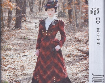 McCall's 7732 Misses Victorian Edwardian Steampunk Cos Play Costume Skirt Dickey Blouse Jacket UNCUT Sewing Pattern