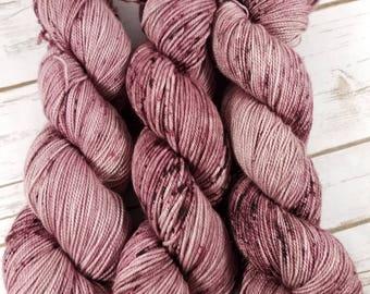 Mauvelous. Hand dyed yarn. Sock yarn. DK weight yarn.
